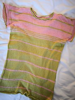 Finished summer tee with Blossom stripes