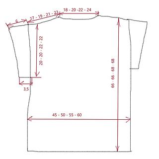 measurements in cm schematic