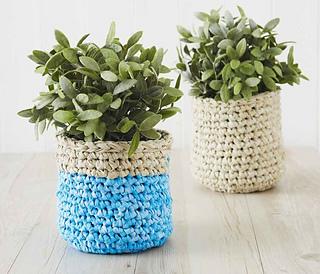 Ravelry & Ravelry: Plant-Pot Cover pattern by Osnat Ganor