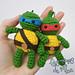 Lovely Ninja Turtle amigurumi pattern