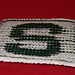 "Michigan State ""S"" Illusion cloth pattern"