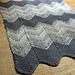 Cumulus Chevron Baby Blanket pattern