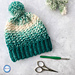Snowball Slouch Hat pattern