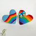 Rainbow heart Souvenirs pattern