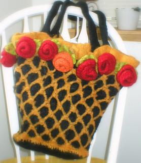Rose Felted Bag