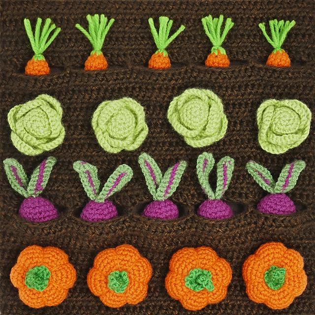 Amigurumi Kitchen: Little Vegetables | 640x640