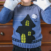 Haunted House Jumper & Mitts Set
