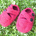 Crossover baby shoes pattern