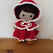 Weebee Doll - Hooded Holiday Cape pattern