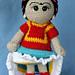 Friducha in Tehuana Dress Doll pattern