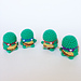 TMNT Teenage Mutant Ninja Turtles Kawaii Keychain pattern