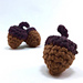 Crocheted Acorns pattern