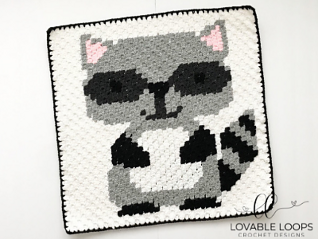 Crochet Patterns CAT Baby Graph Chart Afghan Pattern Letter C