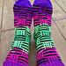 Kryss og tvers sokker pattern