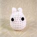 Tiny White Totoro Amigurumi pattern
