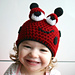 Ladybug crochet beanie (44) includes 5 sizes from newborn to adult pattern