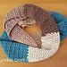 V stitch infinity scarf pattern