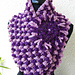 Chunky Cowl Scarf Lavender Shadow pattern