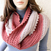 Circle Crochet Scarf Two Colors pattern