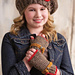 Boogie Woogie Beret and Fingerless Mitts pattern
