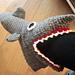 Shark slippers; adult sizes pattern
