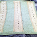 Striped Baby Blanket with Eyelets pattern