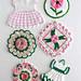 Vintage Pink Floral Potholders pattern