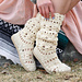 Coachella Boots with Flip Flop Soles pattern