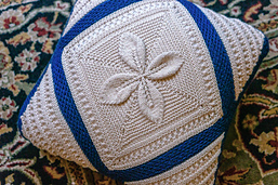 Pillow front. Shown in 01 (White) and 08 (Royal Blue)