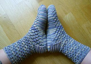 Rushing Rivulet socks
