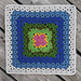 Fans & Lace Afghan Square pattern