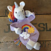 Melly teddy Ragdoll Rainbow Unicorn pattern