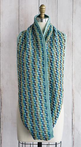 Fino Mini-Skein Kit #7 Georgiana with 404 Watered Silk as the MC