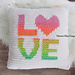 LOVE Pillow Cover pattern