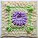 "Hydrangea Shrub - 6"" Square pattern"