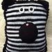Zebra Pocket Pillow pattern