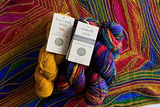 yarns: Uneek Fingering 3004 + Harvest Fingering Buckthorn