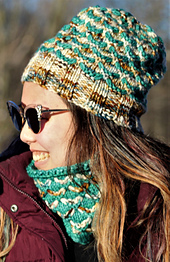 2 Color Hat & Cowl Sew Happy Jane -  Scrumptious Bulky