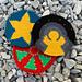 Mochila Christmas coasters pattern