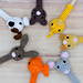 Pencil toppers pets pattern