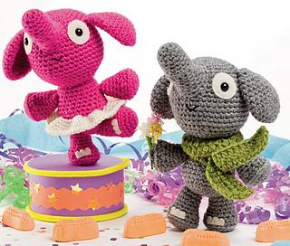 Crocheted Baby Elephant Girl Keychain /Amigurumi plush elephant ... | 272x320