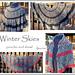 Winter Skies - shawl AND poncho pattern