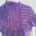 Blooming Iris Shawlette pattern