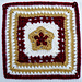 "Shining Star Square 10"" pattern"