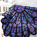 Cathedral Rose Window Afghan pattern