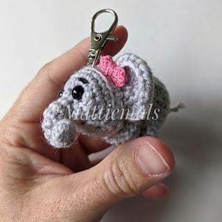Ella Elephant Crochet Keychain