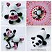 Manda Panda and Baby Panda pattern
