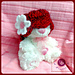 """Little vintage lady"" baby hat pattern"
