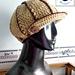 Shimmery ribbed newsboy hat pattern