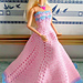 Fashion doll strapless gown pattern